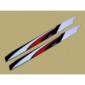 SAB Red/ White/ Black 690mm Main Blade - Hard 3D - New Design
