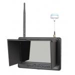 "Feelworld PVR718 7"" HD Video Monitor Wireless 5.8G Receiver 32ch Black"