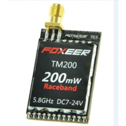 New Edition Foxeer 5.8G 200mW 40CH Video Transmitter VTX FPV QAV Quad Drone RaceBand SMA