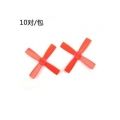 10 Pairs Racerstar 2035 50mm 4 Blade ABS Propeller 1.5mm Mounting Hole For 80-110 FPV Racing Frame (RED)