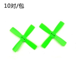 10 Pairs Racerstar 2035 50mm 4 Blade ABS Propeller 1.5mm Mounting Hole For 80-110 FPV Racing Frame green (SOLD OUT)
