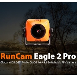 RunCam Eagle 2 Pro Global WDR OSD Audio 800TVL CMOS FOV 170 Degree 16:9 4:3 Switchable FPV Camera (SOLD OUT)