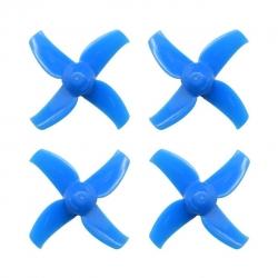 40mm 4-blade Micro Whoop Propellers ( 1.0mm Shaft ) BLUE