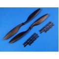 10x 45 Propeller Set (one clockwise rotating, one counter-clockwise rotating) Black