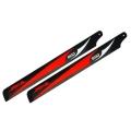 Carbon Fiber Zeal blades 600mm (Red)