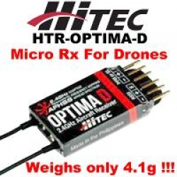 HITEC OPTIMA D 2.4GHz MICRO SIZE TELEMETRIC (VOLTAGE) RECEIVER FOR DRONE (SOLD OUT)