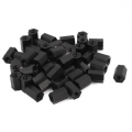 m3x8mm black nylon hex nut spacer standoff female hexagon 10pc