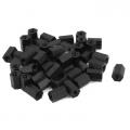 m3x8mm black nylon hex nut spacer standoff female hexagon 10pc