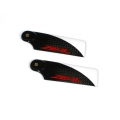Carbon Fiber Zeal Tail Blades 105mm (Red) (RED)
