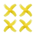 40mm 4-blade Micro Whoop Propellers ( 1.0mm Shaft ) YELLOW