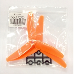 HQ Triple Prop  5x4x3 (Orange)