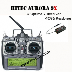 Hitec Aurora 9X 9-Channel SLT 2.4GHZ Tx/7-Channel RX (SOLD OUT)