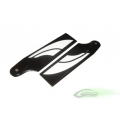 SAB 80mm Carbon Fiber Tail Blades -- Goblin 500