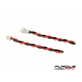 FuriousFPV JST 1.25 2-pin Connector with Silicon wires (male&female) (SOLD OUT)