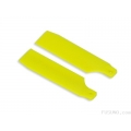 FUB-4505YL FUSUNO Extreme Stiff XS Engineering Plastic Tail Blade 62 mm Neon Yellow - Trex 450