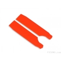 FUB-4506OR FUSUNO Extreme Stiff XS Engineering Plastic Tail Blade 62 mm Neon Orange - Trex 450  (SOLD OUT)
