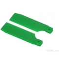 FUB-5004GR FUSUNO Extreme Stiff XS Engineering Plastic Neon Tail Blade 72 mm Green - 500 size helis (SOLD OUT)