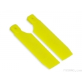 FUB-5006YL FUSUNO Extreme Stiff XS Engineering Plastic Neon Tail Blade 72 mm - Yellow - 500 size helis (SOLD OUT)