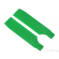 FUB-S504GR FUSUNO Extreme Stiff XS Engineering Plastic Neon Tail Blade 95mm Green - 50 size helis
