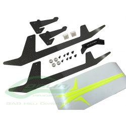 H0652-S - Carbon Fiber Landing Gear Set - Goblin 500 Sport (SOLD OUT)