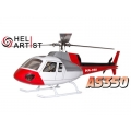 HeliArtist AS350 450 Size - RED [HA450AS3501] (PRE-ORDER IS REQUIRED)