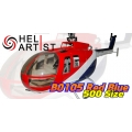 HeliArtist 500 BO105 Fiber Glass Fuselage(Red Blue) [HA500BO002] (SOLD OUT)