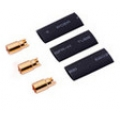 6.00mm Gold Connectors (3 female + Shrink Tube) (SOLD OUT)