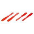 HQ Props 5x4.6 Bullnose Style Prop Orange (CW & CCW 2 pairs)