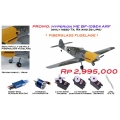 "PROMO: Hyperion ME Bf 109E4 ""Emil"" 25e-class ARF (only need Tx, Rx and 3s lipo)"