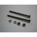 3mm Muffler Bolt with nuts and ringpairs (for 50 size muffler)