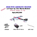HIGH WING AEROBATIC TRAINER: LA FLYER ARF WITH 4PCS HS311 servos, OS46AX ENGINE AND APC 11X8 PROP