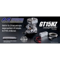 OS GT15HZ with powerboost muffler GT15 (The first gasoline 91 size engine for helicopter - plug & fly (no need modification) - flight time approx 1 hour)