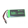 PLURX-36002 - PULSE LIPO 3600mAh 7.4V RX- ULTRA POWER SERIES