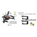 LANTIAN BIFRC X3 130 MINI RACING 4 AXIES FPV QUADCOPTER DRONE 2.5MM F3 BRUSHLESS ESC WITH FRSKY + 2 BATTERY