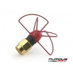 Furious FPV Antenna Pinwheel - RHCP - SMA (Red)