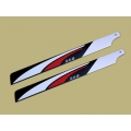 SAB Red/ White/ Black 710mm Main Blade - Hard 3D - New Design