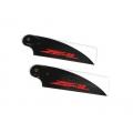 ZHT-095C ZEAL Carbon Fiber Tail Blades 95mm (Neon Orange)