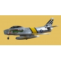 F-86 Sabre with Air Pneumatic Retract ARF (70mm duct fan) [Only need 4s 3200mAH Lipo)