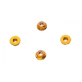 5MM FLANGE LOCK NUT SET, YELLOW (LOW PROFILE)