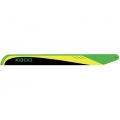 KBDD 515mm Flybarless Carbon Fiber main blades with black trailing edge - Lime/Yellow/Black