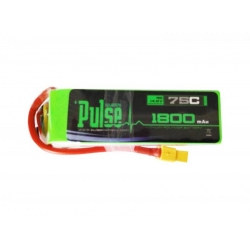 PULSE 1800mah 4S 14.8V 75C - FPV Racing Series - LiPo Battery (Long range setup recommended)