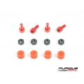 Flight Controller CNC Dampening Set M3 - RED