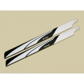 SAB White/ Black 600mm FBL Main Blade - High precision 3D - New Design (SOLD OUT)