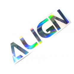 Align Decal Hologram Stickers (20 x 5 cm)