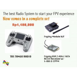 TBS Tango Complete Set with Frysky XJT Module + XSR micro receiver (Rp4,400,000)