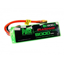 PULSE 5000mah 2S 7.4V 50C Soft Case LiPo Battery W/ Direct Plug XT60 Connector