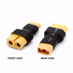 XT30 MALE TO XT60 FEMALE WO/ WIRE CONVERSION CONNECTOR